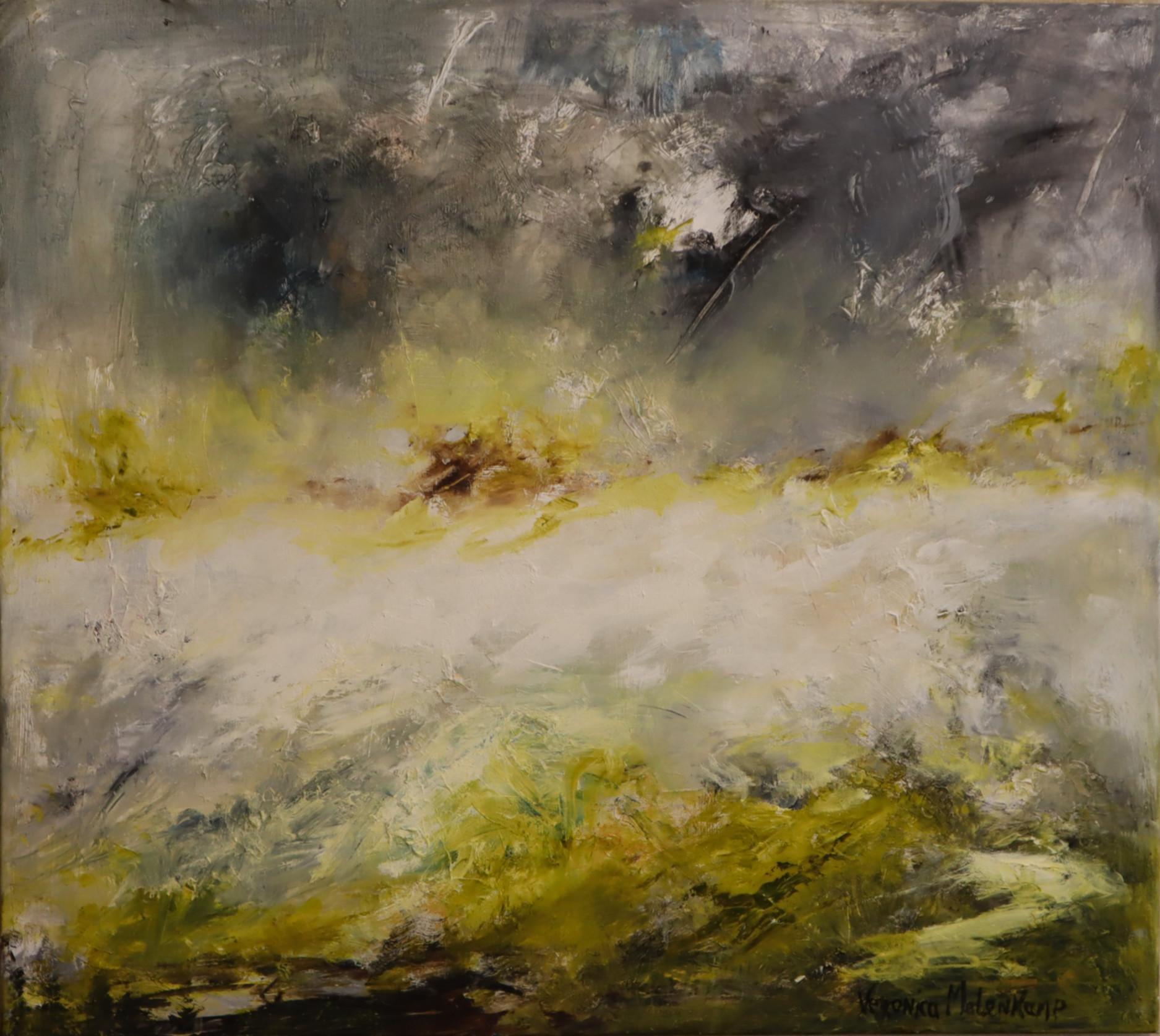 Aan de rivier - (80 x 90)