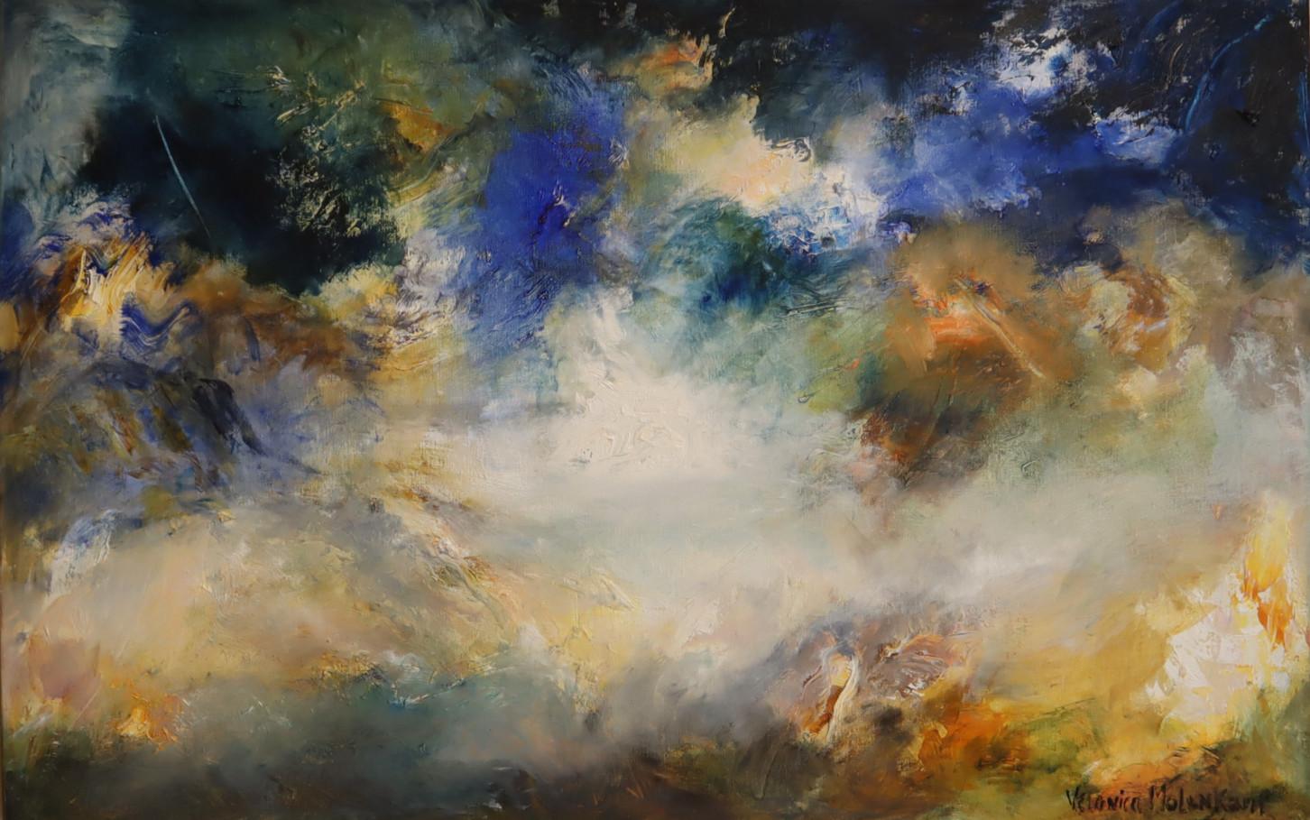 Het vallen van de avond (70 x 110)